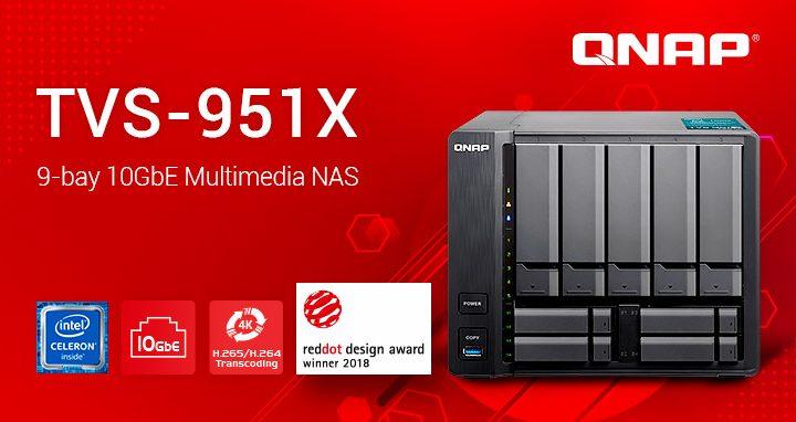 Bemutatkozik a díjnyertes TVS-951X 10GBASE-T multimédia NAS