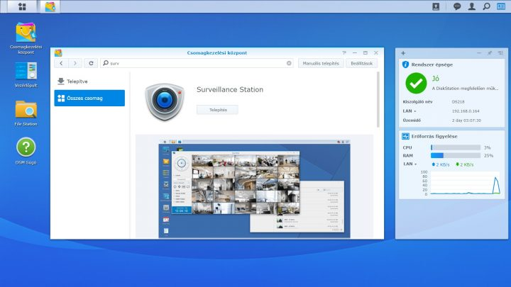 Synology DiskStation DS218 Surveillance Station bemutató