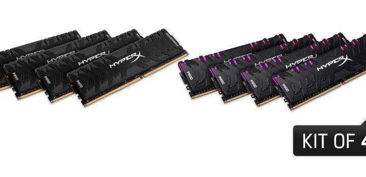 A HyperX kibővíti Predator DDR4 RGB és Predator DDR4 kínálatát