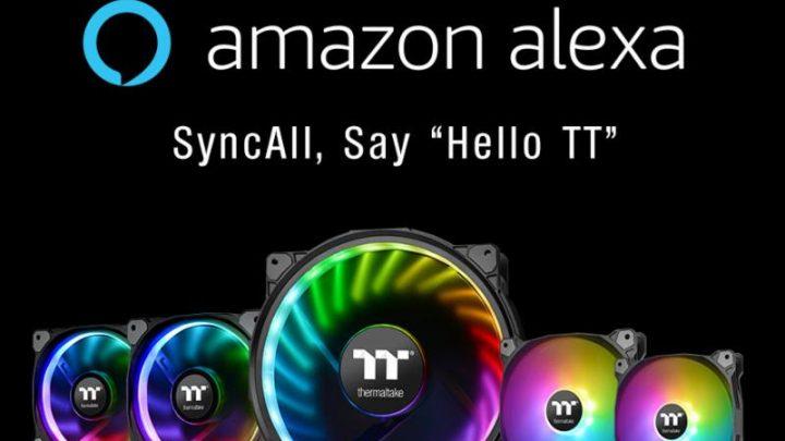 Thermaltake Riing Plus és Pure Plus RGB radiátor ventilátor termékcsalád Amazon Alexa támogatással
