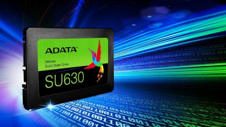 Az ADATA bemutatja az Ultimate SU630 3D QLC NAND SSD-t