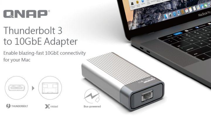 A QNAP bemutatja a QNA sorozatú Thunderbolt 3 – 10GbE adaptert, amely a Mac® és Windows® számítógépek számára gyors, 10GbE hálózati csatlakozást tesz lehetővé