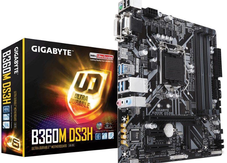 Gigabyte B360M DS3H alaplap kicsomagolás és bemutató