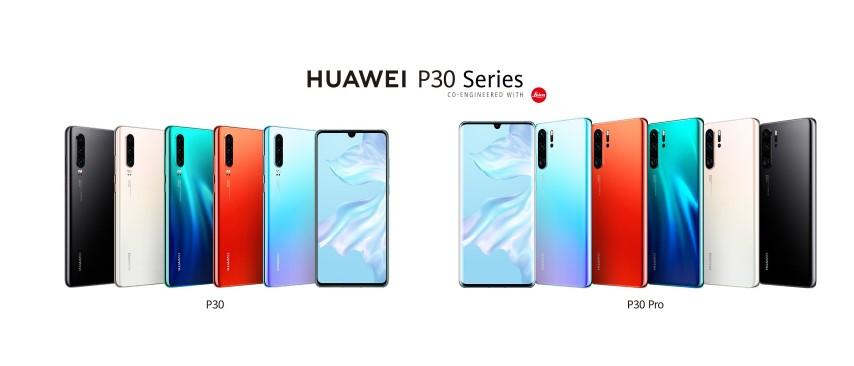 A Huawei bemutatta a P30 széria okostelefonjait