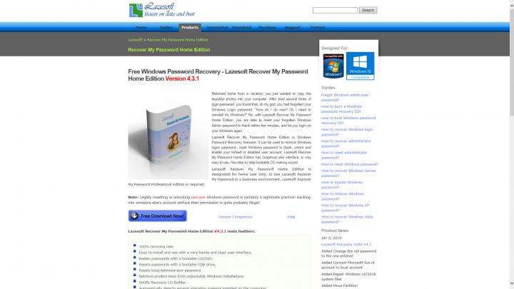 Windows 10 elfelejtett jelszó reset – Free Windows Password Recovery
